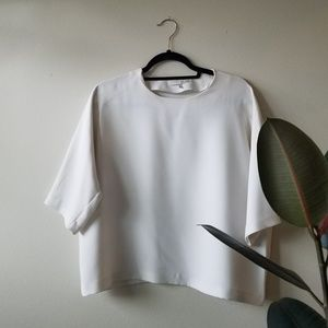 Oak and Fort Cropped White Blouse